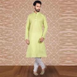 Men's Cotton Kurta Churidar Pyjama sets Neon