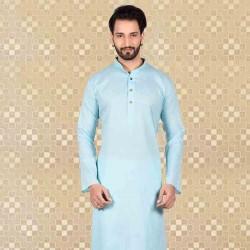 Men's Cotton Kurta Churidar Pyjama sets blue