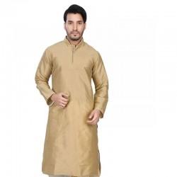 Men's Cotton Kurta Churidar Pyjama sets gold