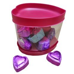 Homemade Heart Shape Chocolate Gift Jar