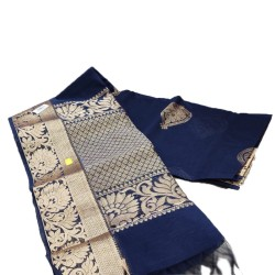 Jari handloom saree (Blue)