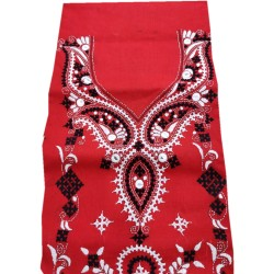 Gujrati Cotton dress material (Red)