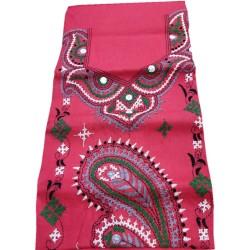 Gujrati Cotton dress material (Pink)