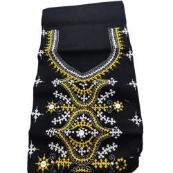Gujrati Cotton dress material (Black)