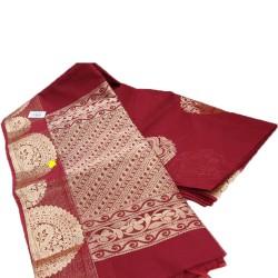 Jari handloom saree (Chocolaty)
