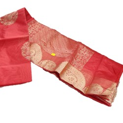 Jari handloom saree (Red)