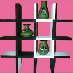Three tiny bird design color pots with stand Handmade