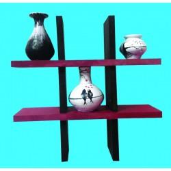 Three tiny designer pots with stand Handmade