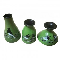 Three designer pots Handmade