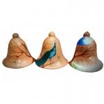 Three Designer Half Cut Bells Handmade