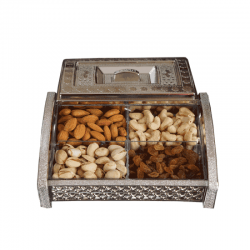 Diwali Dry Fruits Gift Pack Metallic finish box
