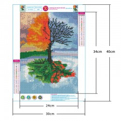 5d diamond painting four seasons tree full of diamonds(Diamond+tool+canvas)