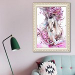 5d diamond painting living room white horse treading(Diamond+tool+canvas)