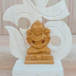 "2"" OM Handicraft Idol Statue on OM Base"