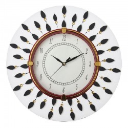 Home Decorative Wooden Round White Wall Clock