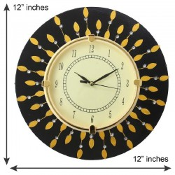 Home Decorative Wooden Round Black Wall Clock