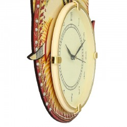 Home Decorative Wooden Wall Clock ( Ganesh )
