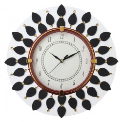Home Decorative Wooden White Wall Clock
