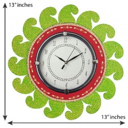 Home Decorative Wooden Wall Clock ( Light Green )