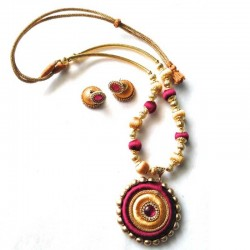 Hand Made Silk Dori Jewel Set Multicolour