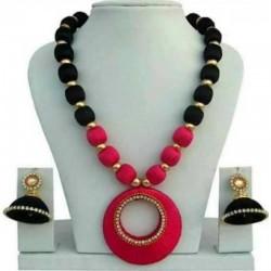 Hand Made Silk Dori Jewel Set - Fashion Jewellery