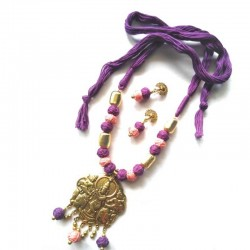 Hand Made Silk Dori Jewel Set - Fashion Jewellery