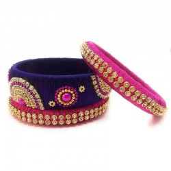 Handcrafted Designer Silk Thread Bangles for Women