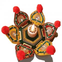 Lotus Shape Rangoli