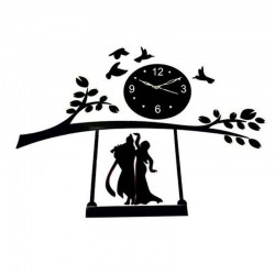 Acrylic Wall Clock, Size - 28x34 inches(black)