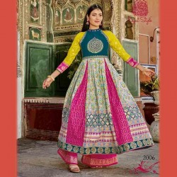 Fabdrape embroidered stitched Anarkali suit