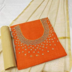 Hand Work Dress Material with Dupatta Handoven-Handcrafted